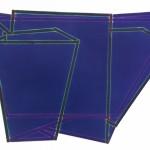 plis à plat bleu, 2012